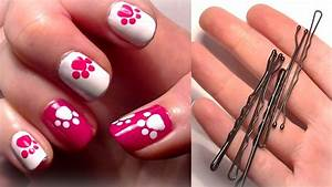 Hello kitty inspired nails using a bobby pin easy