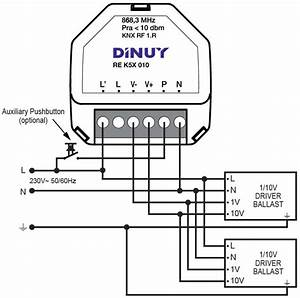 1-channel Dimmer For 1  10vdc Ballasts Or Drivers - Re K5x 010