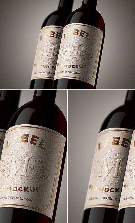 wine bottle mockups psd mockups design trends