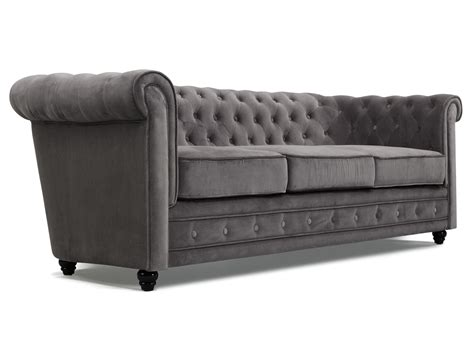 canapes chesterfield canapé chesterfield tissu velours 3 places avec capitons