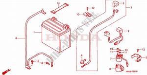 Battery For Honda Fourtrax Rancher 350 4x4 Electric Shift 2000   Honda Motorcycles  U0026 Atvs