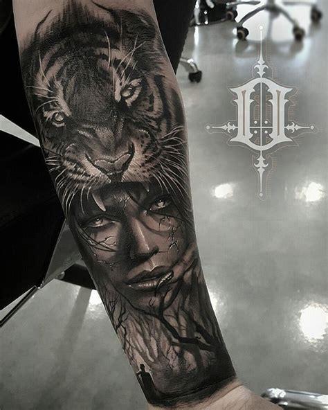 tiger headress tattoo  body art tatuaje robin