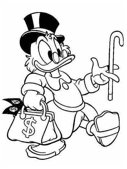 Scrooge Coloring Disney Tio Mcduck Uncle Duck
