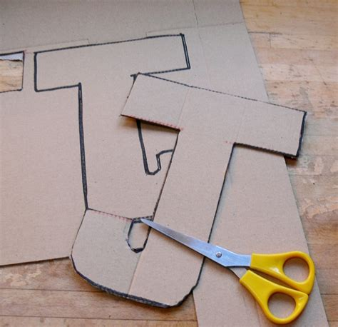 Buchstaben Aus Pappe by 21 Diy Cardboard Letters Guide Patterns