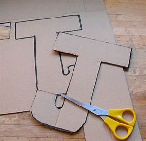 21 diy cardboard letters guide patterns With extra large cardboard letters