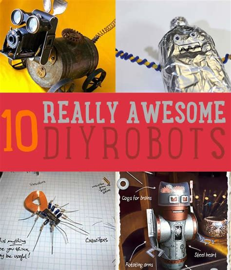 robot diy projects craft ideas  tos
