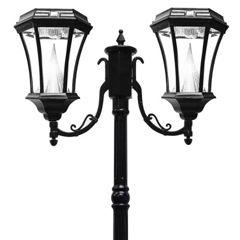 gama sonic dual solar light posts solar l