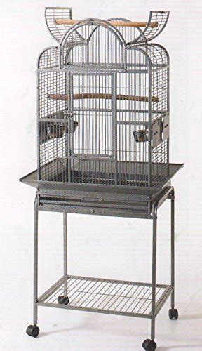 wrought iron open play top bird small parrot cage