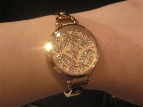 Fossil Fs02 Gold Plat White the simply fossil gold momstart