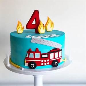 Louis, Fire, Truck, Cake, U2014, Burnt, Butter, Cakes