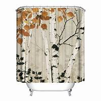nature shower curtains Animal&Nature Waterproof Bathroom Shower Curtain Polyester Home Decor 12 Hooks | eBay