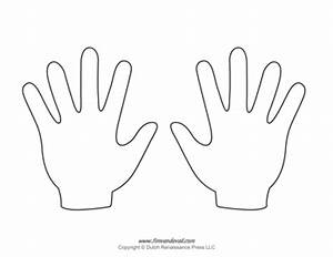Image Gallery hand outline printable