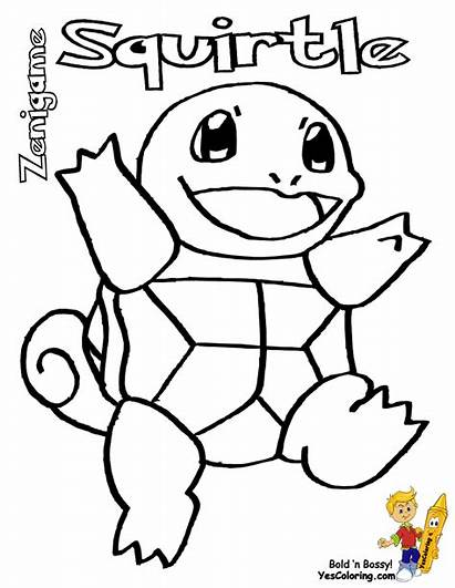 Pokemon Squirtle Coloring Pages Bulbasaur Starter Printable