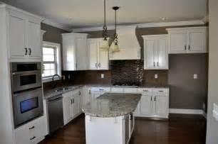 backsplash for white kitchen cabinets white cabinet kitchen with tile backsplash contemporary kitchen nashville by robinson
