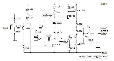 rangkaian 60 watt power lifier koleksi skema rangkaian artikel elektronika