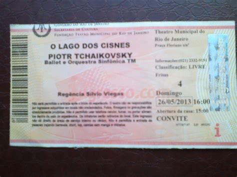 Ingresso Teatro Ingresso O Lago Dos Cisnes Teatro Municipal Rj R 20