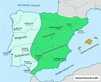 Timeline of Germanic kingdoms in the Iberian Peninsula ...