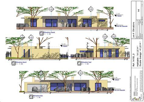 plan maison plain pied 2 chambres gratuit modeles maisons plain pied contemporaines segu maison