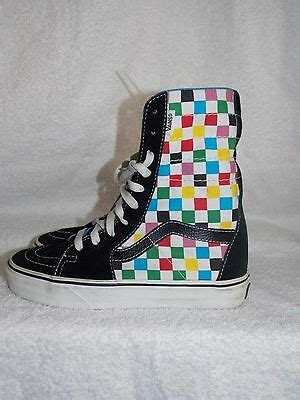 Vans Off The Wall MULTI COLOR Black Checkered Sneakers ...
