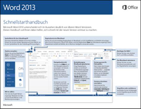 word 2013 schnellstarthandbuch word