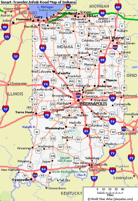 map  indiana america maps map pictures
