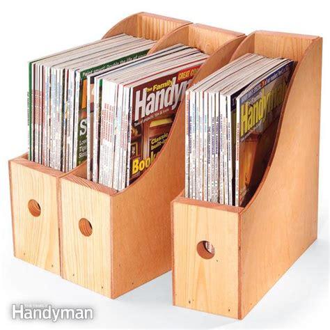 Zeitschriften Aufbewahrung by How To Make Magazine Storage Containers The Family Handyman