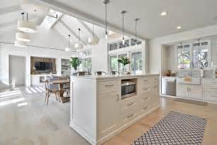 kitchen island with dining table farmhouse open concept kitchen designs family room