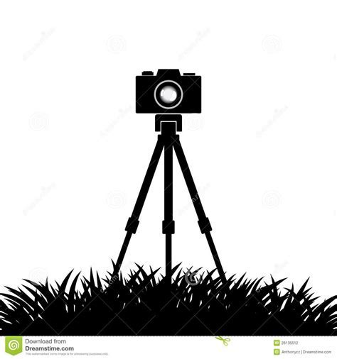Silhouette Of Camera Stock Photography Image: 26135512