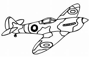 Simple Airplane Coloring Pages Getcoloringpagescom