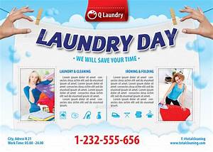 laundry service flyer template 113 by 21min graphicriver With laundry flyers templates