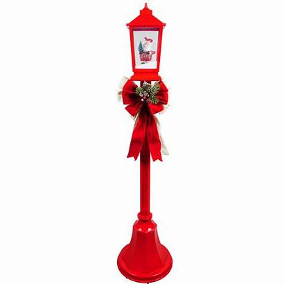 Christmas Lamp Snow Posts Scenes Holiday Songs