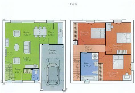 plan plain pied 2 chambres plans des maisons des olivades les maisons des olivades