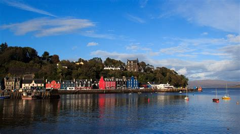 Häuser In Schottland by Tobermory Hafenstadt Wie Gemalt Auf Mull