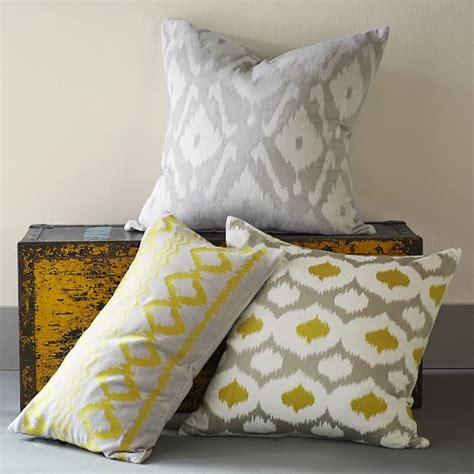 west elm pillows velvet ikat embroidered ogee pillow cover west elm