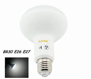 Led w br dimmable recessed light bulb e ac