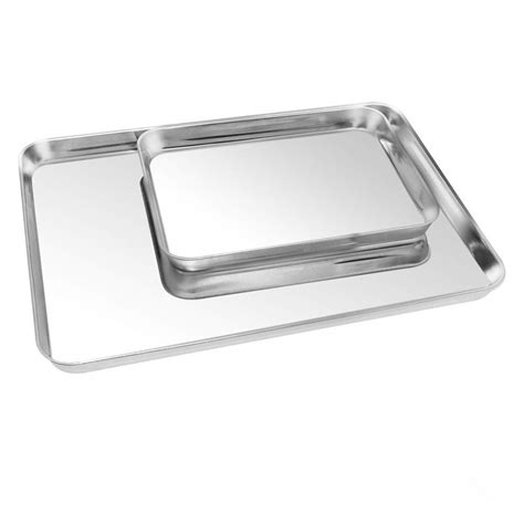 cookie sheets baking toaster oven stainless sheet pan dishwasher safe 2pack toxic tray pure commercial healthy steel non 23in 75in