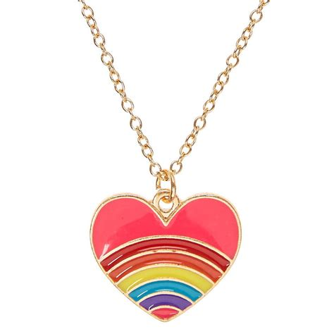 Rainbow Heart Pendant Necklace  Claire's Us. Buy Anklet. Mens Wedding Band Infinity. Pear Shaped Sapphire. Courage Bracelet. North Star Necklace. Kays Engagement Rings. Lotus Engagement Rings. Cute Anklets