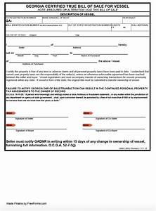 watercraft bill of sale free georgia boat vessel bill of sale form pdf
