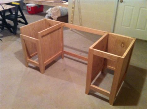 office desk build woodworking talk woodworkers forum