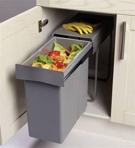 poubelle de cuisine coulissante poubelle de cuisine coulissante monobac cuisine idées