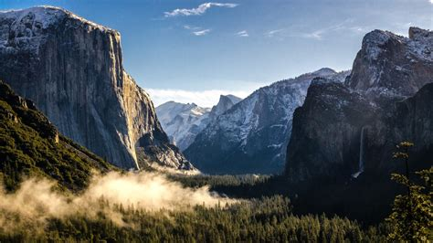 mountains  yosemite national park wallpapers hd