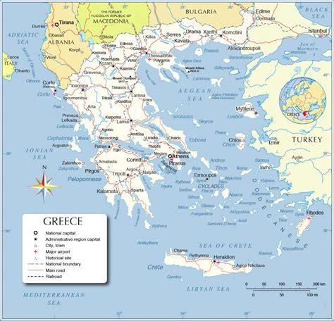 printable greece map map  greece