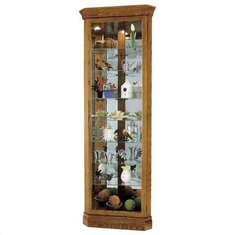oak corner curio cabinet howard miller legacy oak dominic corner curio cabinet