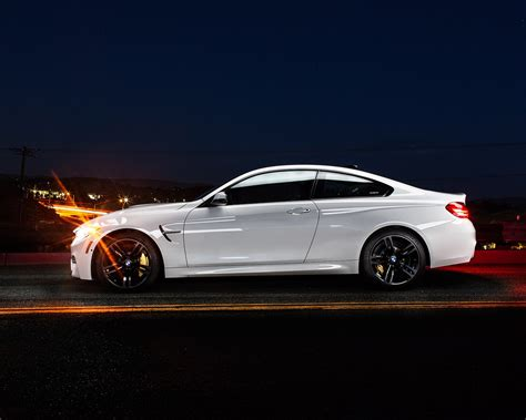 Bmw M4 Coupe Hd Picture by Wallpaper Bmw M4 Coupe F82 White Car Side View 1920x1200