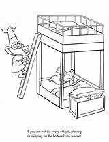 Bunk Bed Beds Coloring Sketch Pages Drawing Sheets Safety Template Getdrawings Activities sketch template