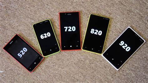 nokia lumia family 520 620 720 820 and 920 compared