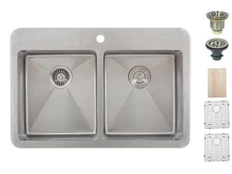 Overmount Kitchen Sinks Stainless Steel by Ticor Tr1700 Overmount 16 G Stainless Steel Bowl