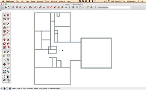 floor plans sketchup how to draw a 2d floor plan to scale in sketchup from field dimensions design student savvy