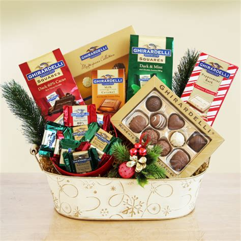 ghirardelli chocolate christmas gift basket gift baskets