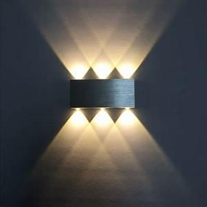 Led Wandleuchte Dimmbar : dimmbar 6w led wandlampe wandleuchte deckenlampe effektlampe flurstrahler ~ Watch28wear.com Haus und Dekorationen